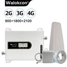 Walokcon amplificador de señal para antena, repetidor de señal de 2g, 3g, 4g, GSM DCS/LTE, WCDMA, ganancia de 10dBi para antena amplificadora de 900/1800/2100 MHz