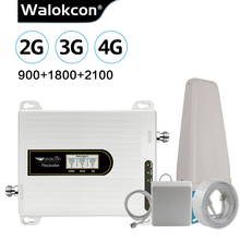 Walokcon hücresel güçlendirici 2g 3g 4g sinyal tekrarlayıcı GSM DCS/LTE WCDMA 10dBi kazanç anten 900/1800/2100 MHz amplifikatör anten