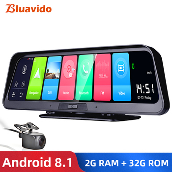 Bluavido 10 #8222 kamera samochodowa IPS GPS 4G Android 8 1 ADAS FHD 1080P kamera na deskę rozdzielczą podwójny obiektyw samochodowy rejestrator wideo noktowizor zdalny podgląd tanie i dobre opinie Spreadtrum SL8541E Przenośny rejestrator Klasa 10 105 °-140 ° Samochód dvr 1920x1080 Zewnętrzny G-sensor Cykl nagrywania