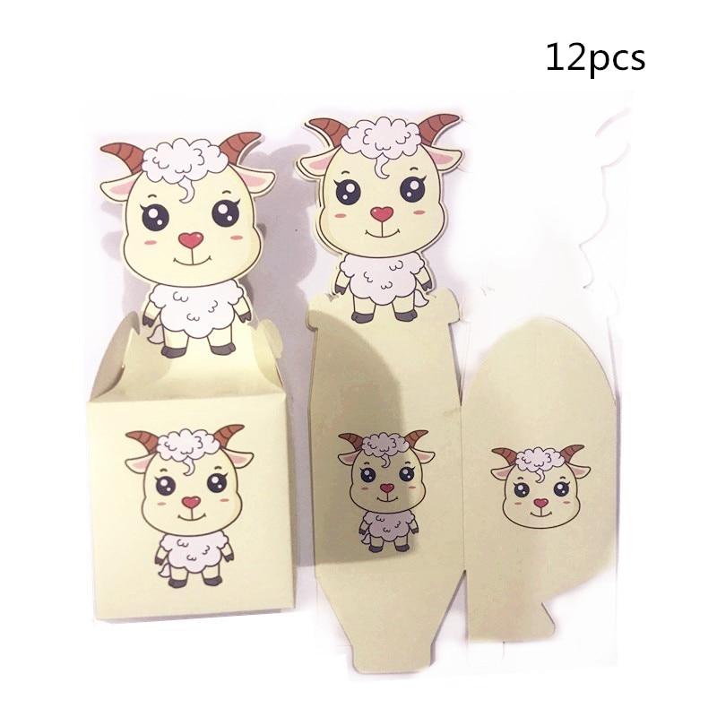 12/24pcs Dragon Snake Horse Sheep Candy Box Popcorn Box Favor Box Happy Birthday Party Gift Box Bag Wedding Decorations Gfits