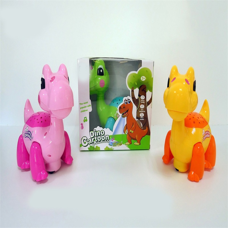 Children Dinosaur Toy Model Runaway Universal Dinosaur Toy Cartoon Projection Music Electric T-Rex Toy