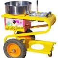 Máquina de algodão doce máquina de algodão doce floss para comercial escovado carrinho elétrico aquecimento pia algodão doce fabricante