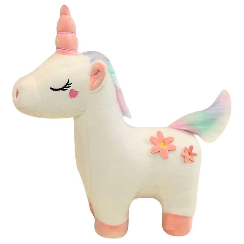 35-50 см розовая плюшевая кавайная игрушка мягкая кукла-единорог, Подушка для сна, детская комната, Декор, игрушка для детей, ученик, рождественский подарок