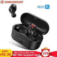 Mpow M8 Bluetooth 5.0 Auricolari Senza Fili Supporto APTX 24h Tempo di Gioco CVC 8.0 con Cancellazione del Rumore Mic Per il iPhone 11 xiaomi Samsung