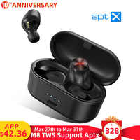 Mpow M8 Bluetooth 5.0 Wireless Earphones Support APTX 24h Playing Time CVC 8.0 Noise Cancelling Mic For iPhone 11 Xiaomi Samsung