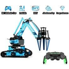 RC robotik kol araba alüminyum alaşım uzaktan kumandalı Robot 2.4Ghz tekerlekler DIY yapı oyuncak çocuklar için
