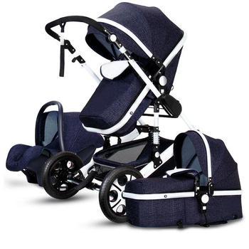 Newborn Baby Stroller 3 in 1 High Landscape Carriage Luxury Travel Pram Basket quality Stroller Baby Car seat Hot Sale Upgrade! 21