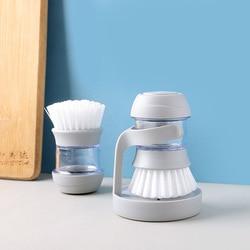 Szczotka do czyszczenia kuchni ciśnienie hydrauliczne szczotka do mycia garnek kuchenny Pan miska Palm narzędzie do mycia szczotka do szorowania Cleaner w Szczotki do czyszczenia od Dom i ogród na