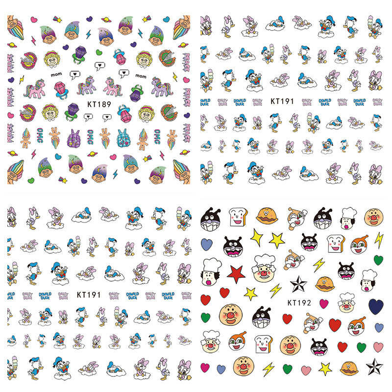 3D-Children Nail Sticker KT2 Series Nail Sticker 3D Nail Sticker Children Stick Completely Non-toxic Cartoon