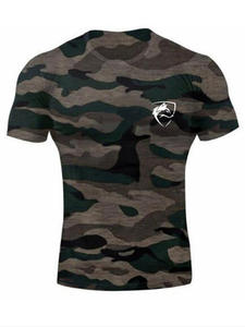 T-Shirt Short-Sleeve Slim-Fit Fitness ALPHALETE Cotton Fashion Brand Men O-Neck Printed