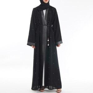 Saudi muslim fashion abaya robe islamic clothing for women female islam dresses dubai turkey open abaya cardigan kaftan MSL853