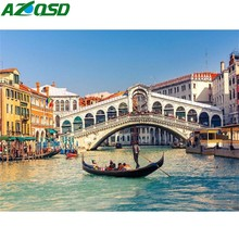 AZQSD Diamond Painting Water City Venice Mosaic Scenery Cross Stitch Embroidery 5D DIY Full Square Home Decor