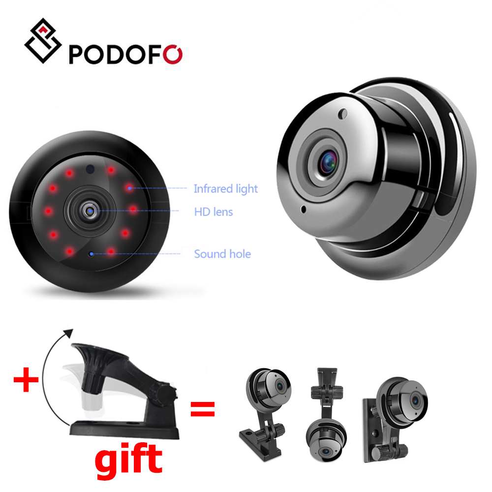 PODOFO WiFi Mini Waterproof Camera HD 1080P Audio Home Security Network Camera Outdoor