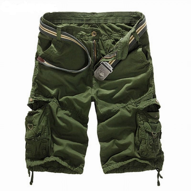 2020 Camouflage Cargo Shorts Men Casual Tactical Military Shorts Fashion Zipper Shorts Male Plus Size Short Pants Summer No Belt
