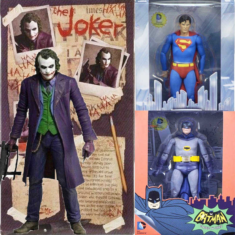 Neca De Joker Figuur Heath Ledger Dc Comics Superman Quinn Batman Action Figure Inbare Model Speelgoed Gift