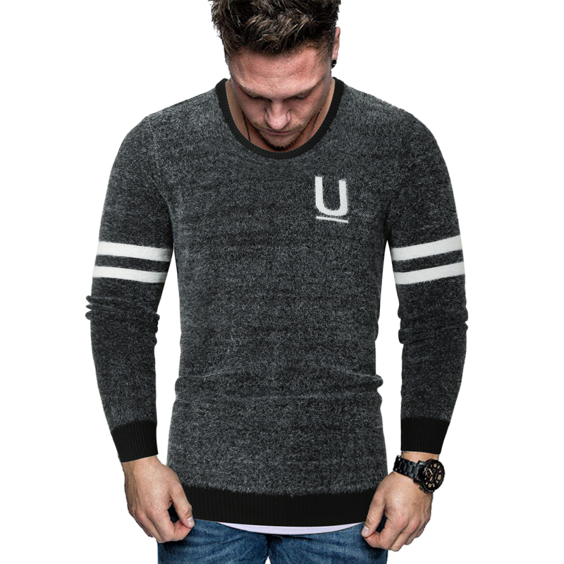 MarKyi 2020 fashion winter sweater men long sleeve new brand printed mens christmas sweater pullover male