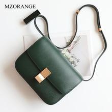 Genuine Leather Bags Tofu Women Bag Real Leather Vintage Handbag Luxury Women Bags Designer Flap New Fashion single shoulder Bag