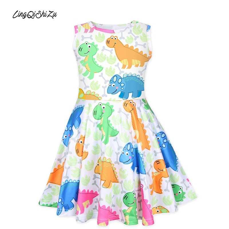 Little Dino Dress Kids Crew Neck Girls Dresses Spring 2020 Kids Kids Dresses  For Girls Active Little Girls Dresses Girl Dress    - AliExpress
