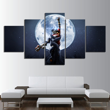 Canvas Art Prints Poster Wall Modular Pictures 5 Pieces Prey Mooncrash Game Spray Painting Bedroom Modern Home Decoration