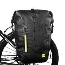 цена на 25L Waterproof Pannier MTB Road Bike Bicycle Rear Rack Pannier Cycling Rear Seat Bag Shoulder Bag Bicycle Accessories