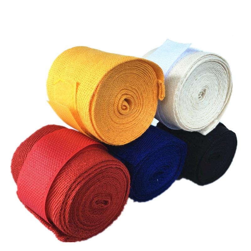 Cotton 2.5m Boxing Bandages Tied Hands With Fighting Wraps With Muay Thai Boxing Troublesome Hand Straps With Hand Guard TSLM2