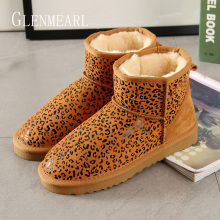 Get more info on the Winter Boots Women Ankle Shoes Brand Warm Snow Boots Genuine Leather Female Boots Fur Leopard Female Shoes Causal Shoes 2019 DE
