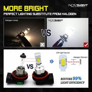 Image 2 - NOVSIGHT H4 H7 H11 H8 H9 H16JP H1 H3 자동차 LED 안개 전구 9005 9006 자동 운전 안개 램프 6500K 12V 24V LED 자동차 헤드 라이트