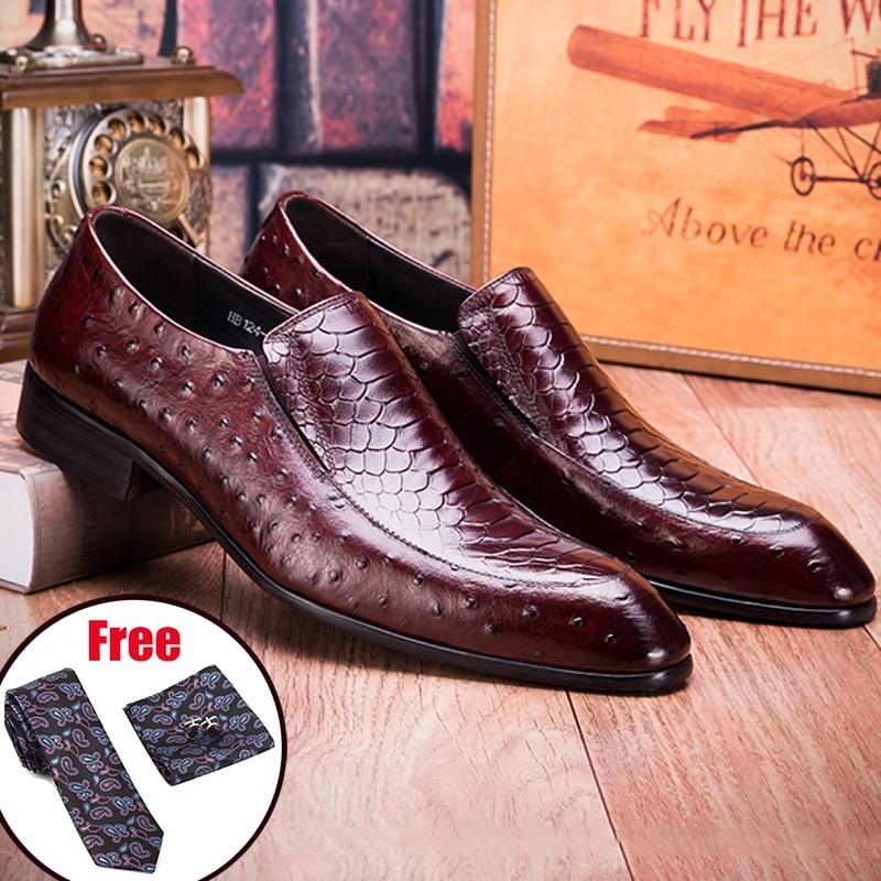 Мужские туфли оксфорды из натуральной кожи Phenkang, черные парадные свадебные туфли броги без застежки, 2020 Туфли      АлиЭкспресс