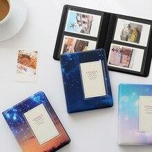 64 кармана звездное небо фотоальбом 3 дюйма для Fujifilm Instax Mini films альбом Instax Mini 9 8 7s 90 70 25 имя держатель для карт