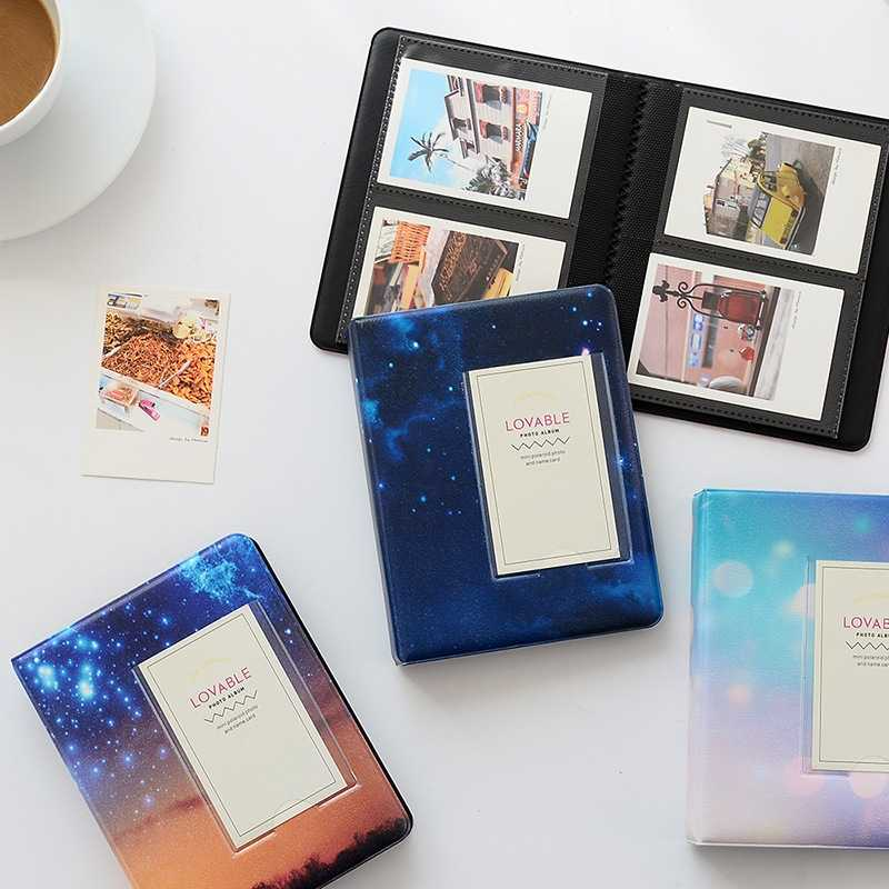 64 Pockets Starry Sky Photo Book Album 3 Inch For Fujifilm Instax Mini Films Album Instax Mini 9 8 7s 90 70 25 Name Card Holder