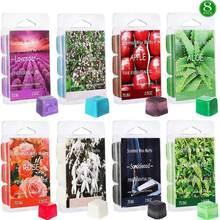 A cera scented derrete o refrogerador de ar, o aquecedor da cera de soja cubos de maçã aloe chá verde sândalo rosa baunilha jasmim lavanda