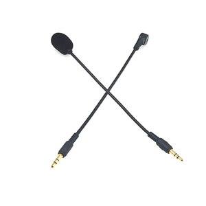 Image 5 - 3.5mm Mono/Stereo/4 polak HD mikrofon na słuchawki gamingowe bezpośrednie wtyczki mikrofon kondensujący na zestawy słuchawkowe bluetooth 190mm