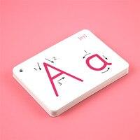 26 手紙英語フラッシュカード手書きモンテッソーリ早期開発学習教育玩具子供の子供のギフトバックル