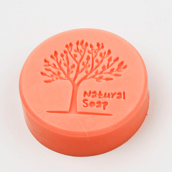 Molde de cera de patrón de árbol para jabón, moldes circulares para velas, molde de silicona líquida, utensilios para hornear pasteles