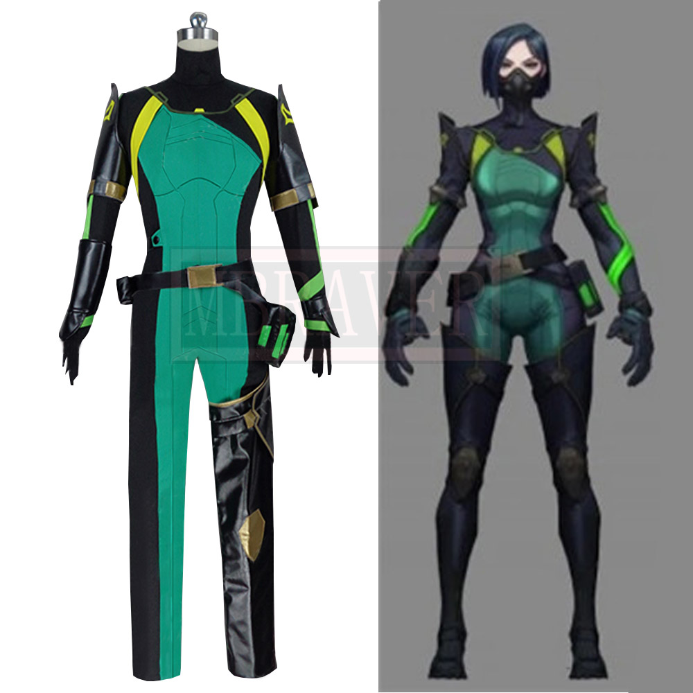 Game Valorant Viper Cosplay Costume Cos Halloween Christmas Party Uniform Costom Made Any Sizes