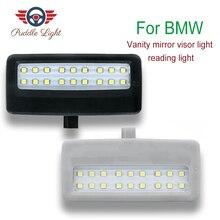 2X Gray LED vanity mirror lamp For BMW F10 F11 F07 F01 F02 F03 Led reading lights bulbs Car-styling auto parts left led rearview side mirror indicator turn signal light direction blinker lamp for bmw f10 535i 550i ix f01 f07 f02 wn179 l