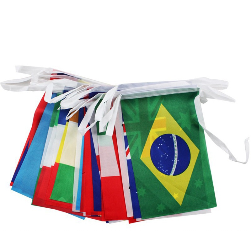 32 Flags String Flag Countries Around The World Nations Flag , World Cup 32 Teams Olympic Games Hanging Flags