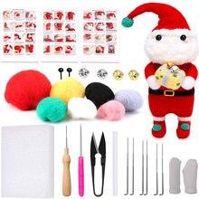 Рождественский войлочный набор kaobuy с иглой Санта Клауса шерстяной