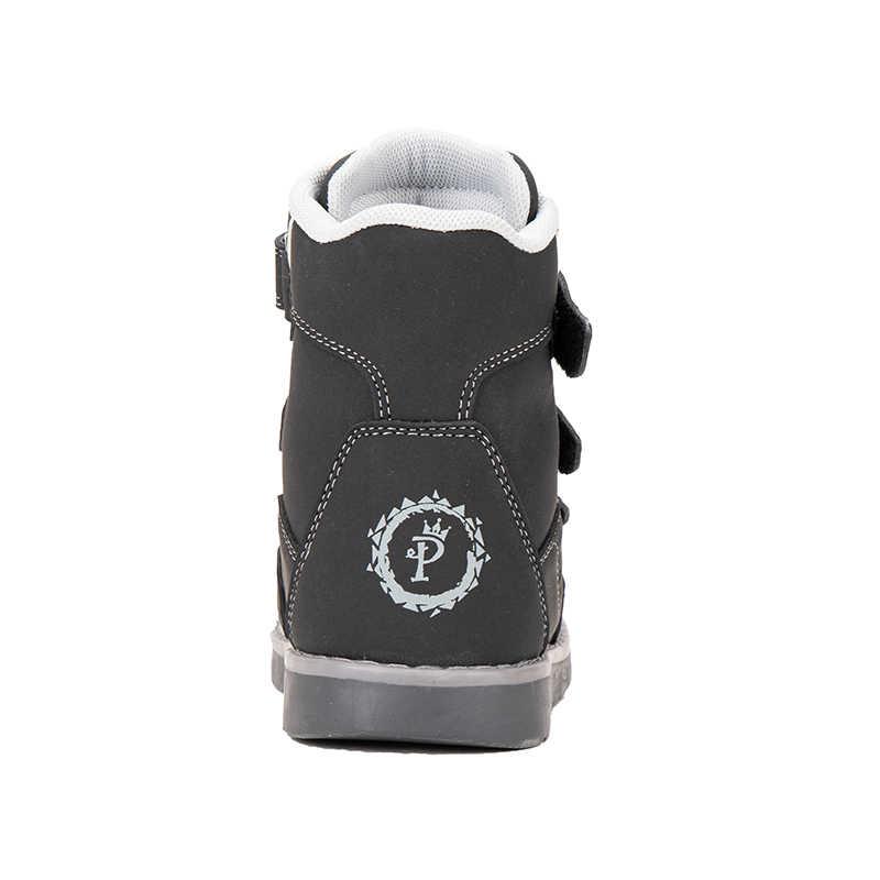 Princepard kış çocuk kar botları çocuk ortopedik ayakkabılar ayak bileği desteği ile kızlar için erkek 100% kadife çocuk ayak bileği ayakkabı