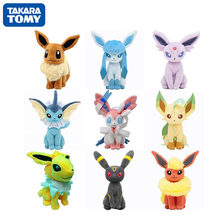 TAKARA TOM 22cm POKEMON Plush Dolls Toy Kawaii Glaceon Umbreon Leafeon Jolteon Espeon Flareon Eevee Sylveon Christmas Kids Gift