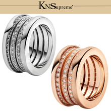 KN Bulgaria s925 ring gift 1:1 Original 100% 925 Sterling Silver Women The same style Jewelry High-end Quality Gift Have logo