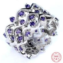 S925 Sliver Sapphire Jewelry Diamond Ring for Women Luxury Wedding Blue Topaz Bizuteria 2 Carats Gemstone Box