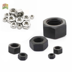 Black Grade 8.8 or 304 steel DIN934 Hex Hexagon Nut for M1.2 M1.4 M1.6 M2 M2.5 M3 M4 M5 M6 M8 M10 M12 M14 M16 M20 M24 Screw bolt
