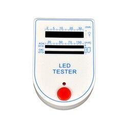Mini handheld 2 150150ma superior conduziu o verificador da caixa de teste para bulbos da lâmpada do diodo emissor de luz