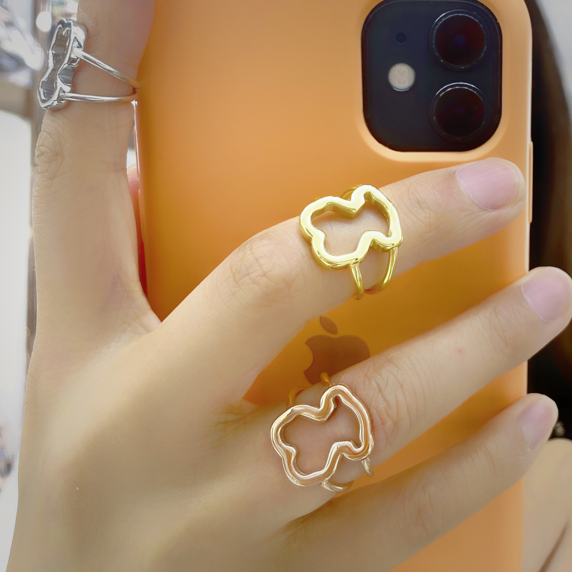 Hot Sell Finger Ring bear rings ring stainless steel jewelry for lovers ring cute style Top-grade Plated Factory Price wholesale
