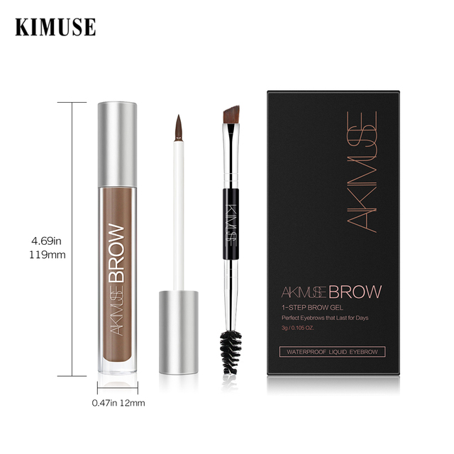 KIMUSE Eyebrow Gel Cream Waterproof Eyebrow Shadow Tint Eye Makeup Eyebrow Pencil Long Lasting Cosmetic Eyebrow  Makeup 4