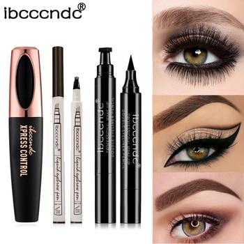 4D Silk Fiber Lash Mascara Waterproof Rimel 3d Eyelash Extension Thick Lengthening Eye Lashes Eyebrow Tattoo Pen Dropshipping