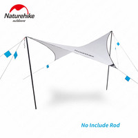 Naturehike קמפינג אוהל ברזנט 700g Ultralight נייד חופה 150D אטים לגשם קרם הגנה חיצוני סוככים נסיעות קמפינג טיולים