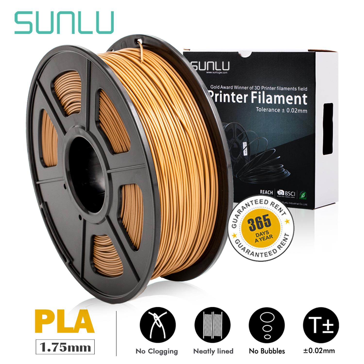 3D PLA Printer Filament 1.75mm 1kg/Roll 2.2lb Spool SUNLU Factory free ship new with CE Certification for 3D Printer and 3D Pen 3D Printing Materials     - title=