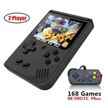 GONOKER Retro Handheld Game Console 3 Inch Support TV 2 Player 168 Classic Game Console Support Dropshipping цены онлайн
